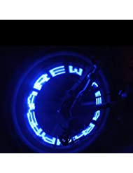Gogogo Lampe LED clignotante imperméable pour roue de voiture, vélo ou moto Bleu