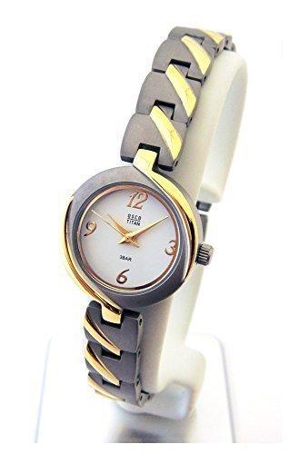 OSCO TITAN Armbanduhr Damenuhr Schmuckband Bicolor Wei 06133002
