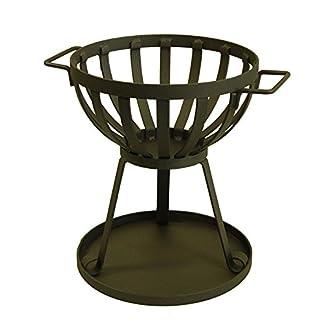 IMEX EL ZORRO Estufa de leña para Exterior, diámetro 33 x 41 cm, Negro, 71460