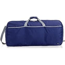 AmazonBasics - Bolsa grande de viaje/deporte (lona, 98 l), color azul marino