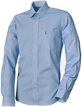Almsach Trachtenhemd WIRSBERG Blau Langarm Slim Fit