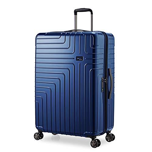 Eminent Koffer Helios 77 cm 114 L Leichtgewicht 4 Doppelräder TSA Schloss Blau