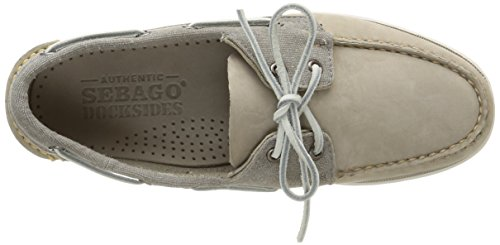 Sebago Spinnaker Nubuck, Chaussures Bateau Homme Gris