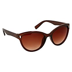 Roycee Womens Black Cateye Sunglasses (RC 801-02)