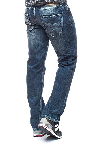M.O.D Herren Straight Fit Jeans chang blue