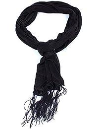 Schal Halstuch Sommerschal Tuch leicht Fransen - erhältlich in verschiedenen Farben
