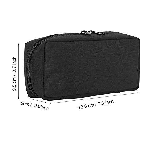 417gUZbX8TL - Bolso del refrigerador de la insulina, caja de enfriamiento de la bolsa del organizador médico portátil del protector del aislamiento(Negro)