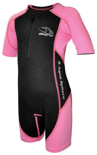 Nylon-anzug (Aqua Sphere Stingray Schwimmanzug Neopren für Kinder pink/schwarz,L-128-8 Jahre)