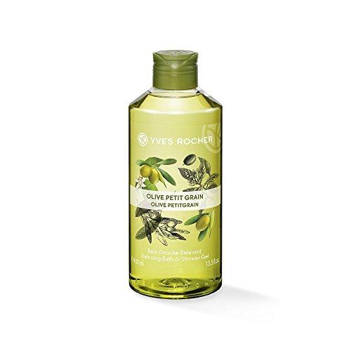 Yves Rocher LES PLAISIRS NATURE Duschbad Olive-Petitgrain, Aroma-Schaumbad & pflegendes Duschgel, 1 x Flacon 400 ml -