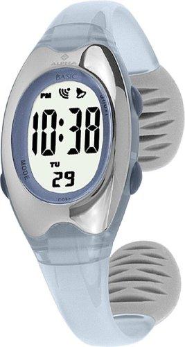Alpha Saphir Alpha Saphir 169D - Reloj digital de mujer de cuarzo con correa de plástico azul (cronómetro) - sumergible a 50 metros