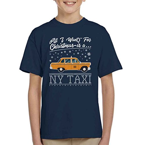 All I Want For Christmas Is A New York Taxi Kid's T-Shirt