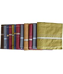 Sondagar Arts Handkerchief for Men - Pack of 12