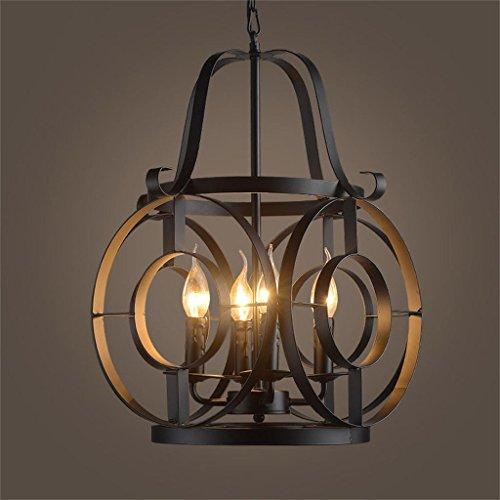 WUFENG Luces de Techo Industrial país de América Retro lámparas de forja de la Personalidad Creativa Bar café araña Luces Decorativas