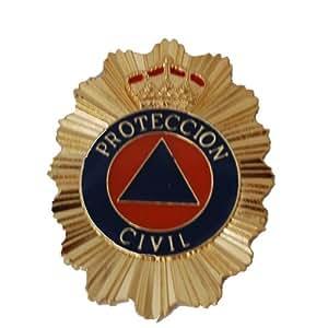 METAL PLAQUE portefeuille - Protection civile