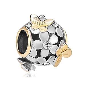 Korliya Blume Schmetterling-Armband mit Perlen-Armband