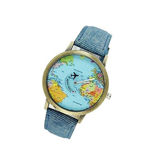 honeysuck-creativa-mapa-del-mundo-reloj-denim-tela-reloj-cuarzo-regalo-azul