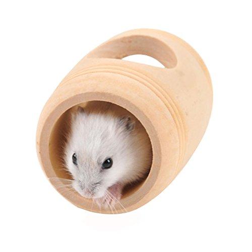 UEETEK Maison de jeu pour hamster Habitat en bois en...