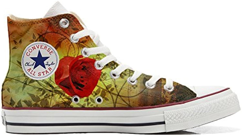 Converse All Star zapatos personalizados (Producto Artesano) rojo de la rosa  -