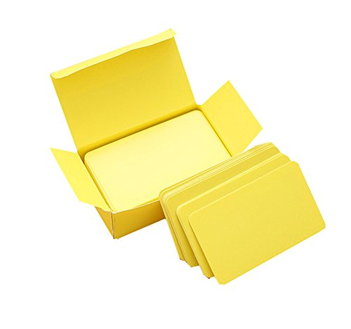 100brosuper Memory Wort Karten Graffiti DIY blanko Filet Kleine Karte Memo Pad Notizbücher Memorandum Note Pads blanko Wort Karten gelb