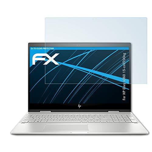 atFolix Schutzfolie kompatibel mit HP Envy x360 15-cn0700ng Folie, ultraklare FX Bildschirmschutzfolie (2X)