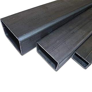 B&T Metall Stahl Rechteckrohr 60 x 30 x 3,0 mm in Längen à 2000 mm +0/-3 mm Flachkantrohr ST37 schwarz roh Hohlprofil Rohstahl