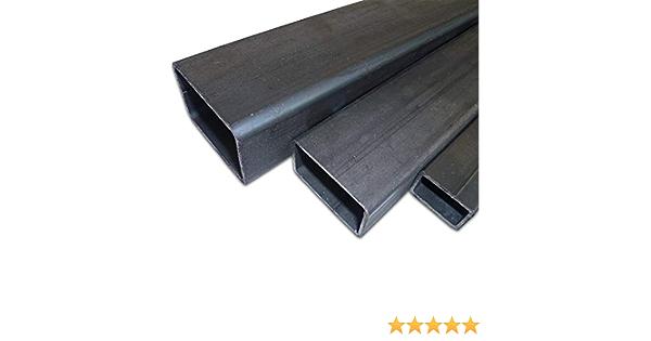 En acier Profil/é creux en acier brut Tube rectangulaire B/&T Metall ST37/- Noir