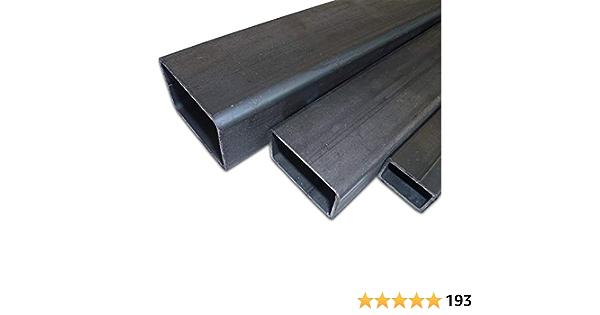 B/&T Metall Stahl Rechteckrohr 40 x 30 x 2,0 mm in L/ängen /à 500 mm 0//-3 mm Flachkantrohr ST37 schwarz roh Hohlprofil Rohstahl