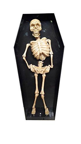 kraftz®–Halloween Dancing Skelett im Sarg Fall mit Licht & Sound–Trick Requisiten, bewegbar, mit schrecklichen Sound für Party Festival Dekoration (Halloween Sarg Requisiten)