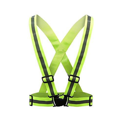 AYKRM 9 Farben Mehrere Farben Laufweste - Reflektierende Weste für Joggen, Fahrrad | Atmungsaktiv & Leicht | Warnweste für Damen Herren (gelb, S-XXL)