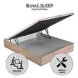 ROYAL SLEEP Canapé Abatible (135x190) de Gran Capacidad, Tapa 3D Transpirable,...
