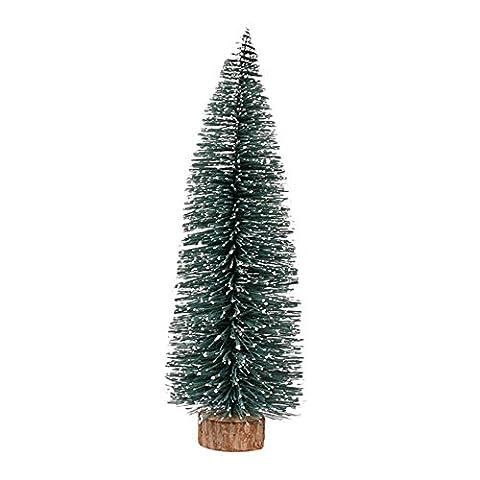 Pawaca Miniatur Künstlicher Weihnachtsbaum mit Holz Ständer Frosted Sisal Tannenbaum Christbaum Weihnachten Party Dekoration Ornamente