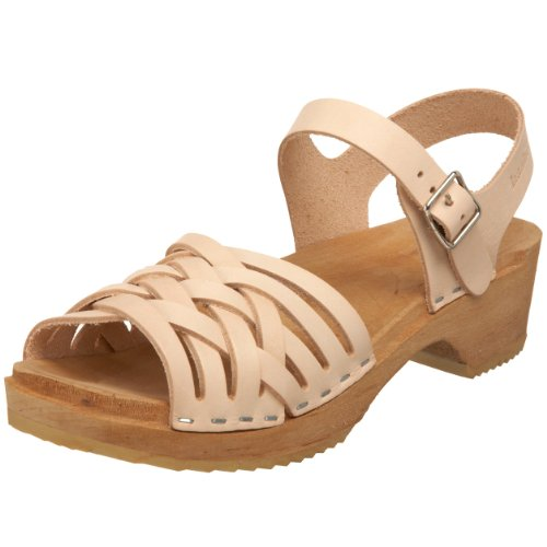 Swedish Hasbeens Braided Low 730, Sandali donna Beige (Beige (Nature))