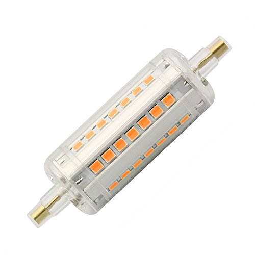 Bombilla LED R7S Slim 78mm 5W Blanco Cálido 2700K efectoLED
