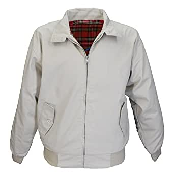 Harrington Jacket Retro/Mod/ScooterXS-3XL (x small, biege)