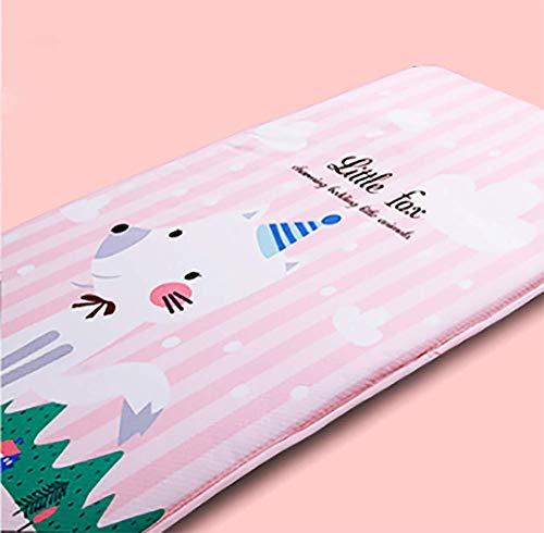 GDZFY Respirable Removable Niño Colchoneta de Siesta,Gruesas Premium Colchón de futón Lavable Futón Cama Mat Fluffy Cómodo Estera para Dormir -E 50x130cm(20x51inch)