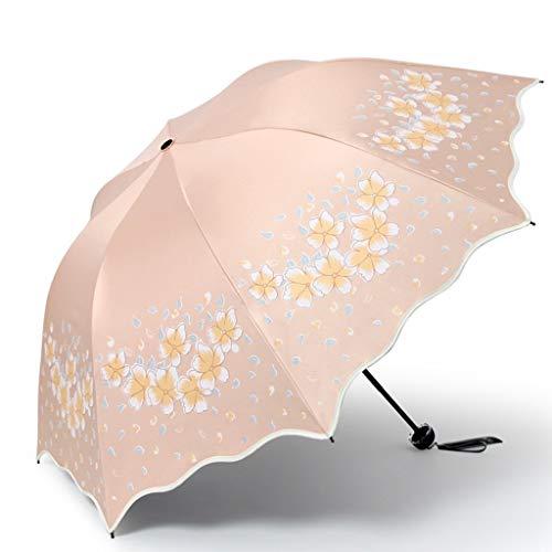Screenes Regenschirm Winddicht Paradise Sonnenschirm Sonnenschutz Uv Sonnenbrille Vinyl Sonnenschutz Tri Einfacher Stil Folding Regenschirm Folding Sonne Und Regen (Farbe Wasserdicht