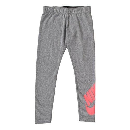 Nike Mädchen G NSW Leg A See LGGNG Logo Netze, schwarz (Carbon Heather/Sea Coral), L (Mädchen Für Spandex Nike)