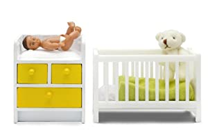 Lundby 60.9031.00 Stockholm - Cuna y Cambiador para casa de muñecas