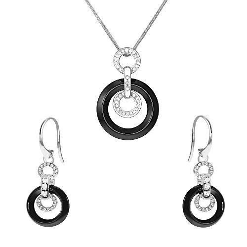 Image of Stella Maris Women Silver Round Diamond Accessories