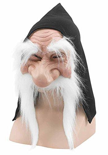 Verkleidung Kostümparty Wichtel Zwerg Goblin Maske Mit Kaputze & Bart - Weiß, One size (Goblin Kostüme Erwachsene)