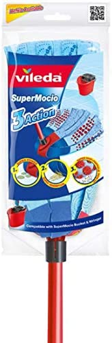 Vileda 953503 3 Action Supermocio Floor Mop with Stick