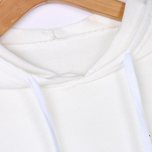 Komise Sweat à Capuche - Tendance - Femme Blanc