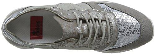 Rieker Donna Scarpe stringate grigio, (staub/ice/silber/fro) M6902-42 Grau