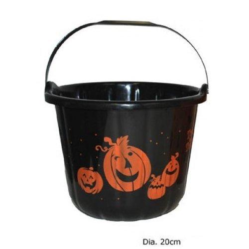 Halloween Dekoeimer in (Kürbis Hexe)