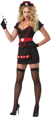 Kostüm Schwarz Krankenschwester - Women's Cardiac Arrest Nurse Fancy dress costume Small