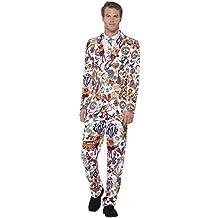 Disco Anzug Kostum Herren 50er 60er Jahre Hippie Smoking Rock N Roll
