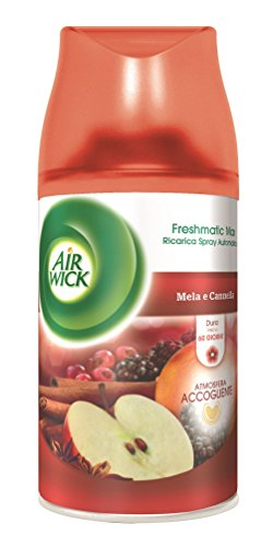 Air Wick Fresh Matic Ricarica Spray Automatico, Mela e Cannella - 2 pezzi da 250 ml [500 ml]