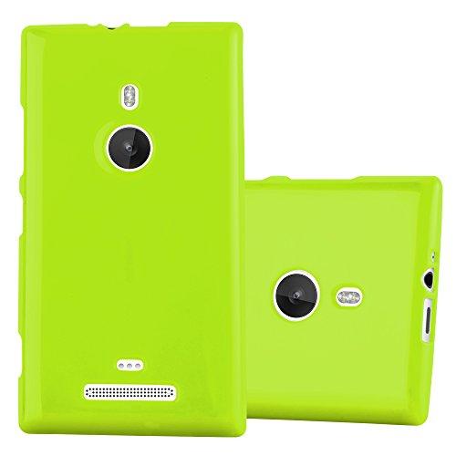 Preisvergleich Produktbild Cadorabo Hülle für Nokia Lumia 925 - Hülle in Jelly GRÜN – Handyhülle aus TPU Silikon im Jelly Design - Silikonhülle Schutzhülle Ultra Slim Soft Back Cover Case Bumper