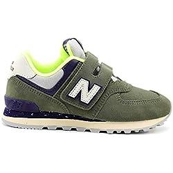 Zapatos Niño Casual Sneakers New Ballance Yiv7574 Verde 32