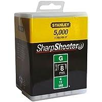 Stanley Klammern Typ G (8 mm, aus Flachdraht, wiederverschließbare Verpackung, 5000 Stück, rostbeständig) 1-TRA705-5T